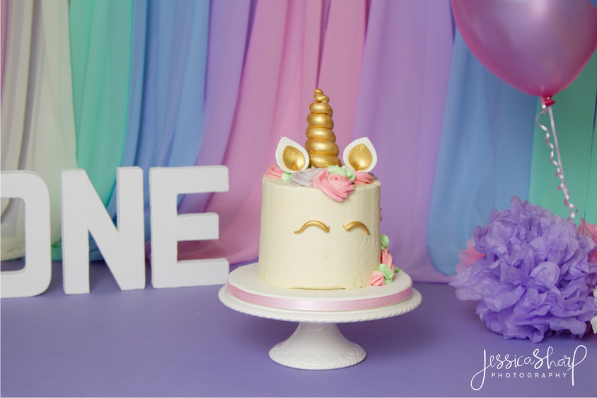Baby Girl Unicorn Cake Smash