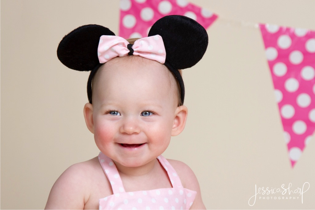 Baby Girl Minnie Mouse Cake Smash