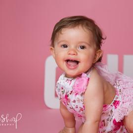 Baby Girl Sugar Pink Cake Smash