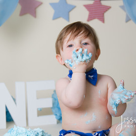 Baby Boy Blue Cake Smash