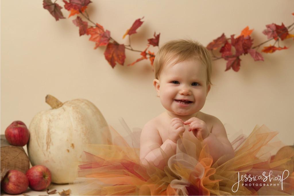 Baby Girl Autumn Cake Smash