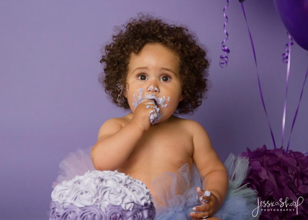 Baby Girl Purple Cake Smash