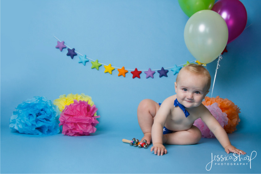 Baby Boy Rainbow Cake Smash