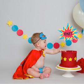 Baby Boy Super Hero Comic Cake Smash
