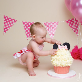 Baby Girl Minnie Mouse Cake Smash