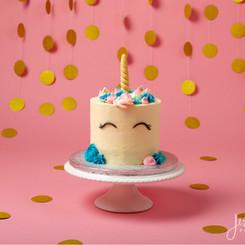Unicorn Gold Pink Cake Smash