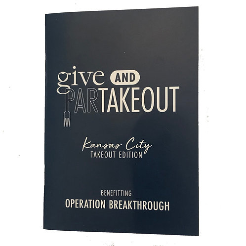 Give & ParTakeout Book Benefitting Operation Breakthrough