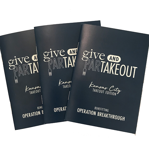(3) Give & ParTakeout Books Benefitting Operation Breakthrough