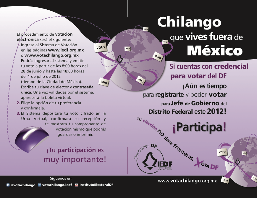 Vota Chilango, folleto
