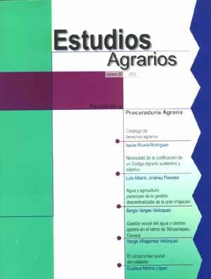 Revista, Estudios Agrarios, 2001 (No. 20)