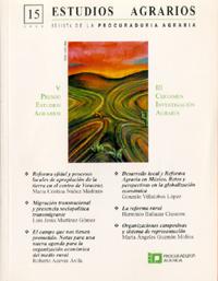 Revista, Estudios Agrarios, 15-2000