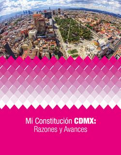 Folleto, Mi Constitución CDMX