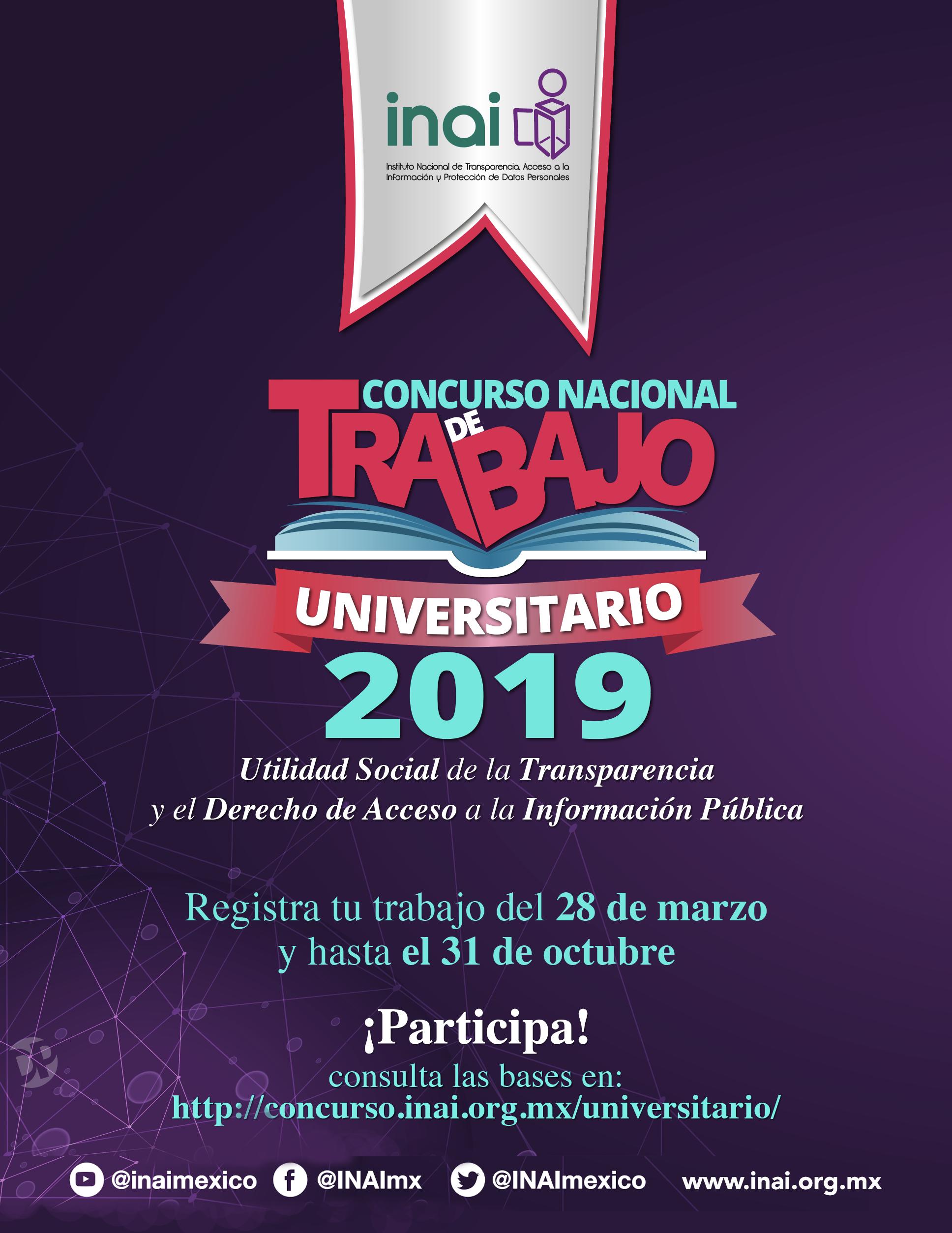 INAI :: Concurso Nacional de Trabajo Universitario 2019
