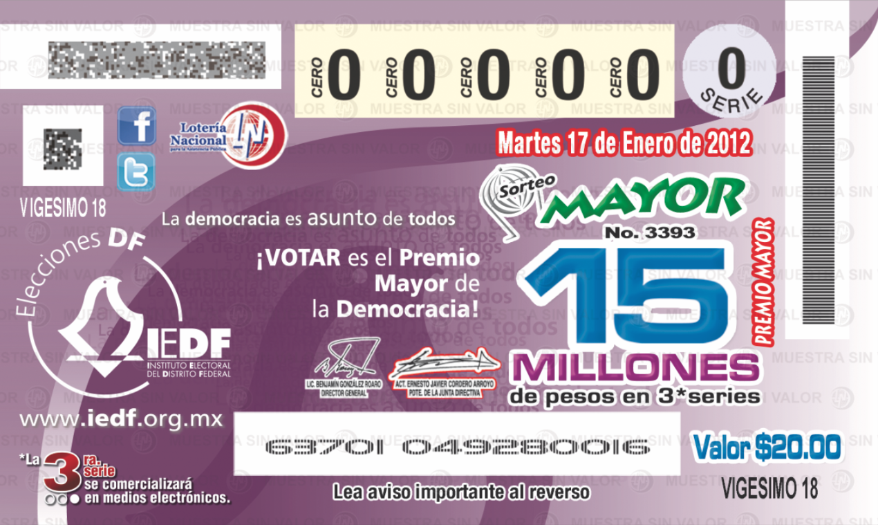 Lotenal, Sorteo Mayor No. 3393