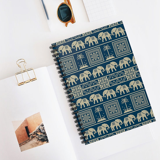 Elephant Spiral Ruled Lined Notebook