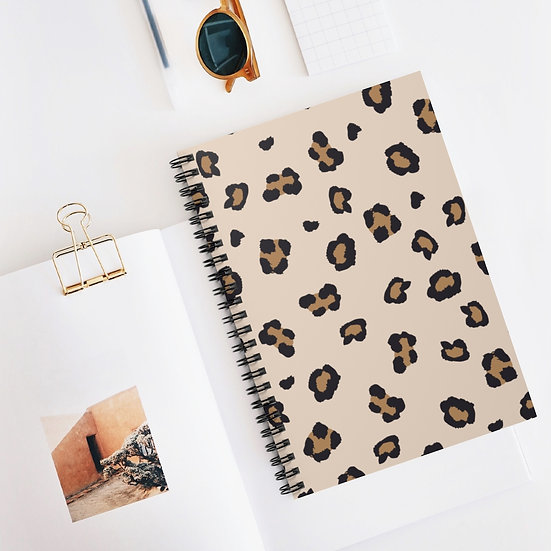 Animal Print Spiral Ruled Lined Notebook