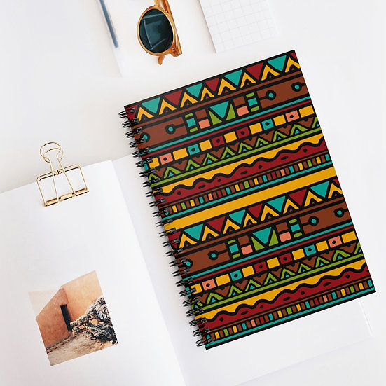 Patterned Spiral Ruled Lined Notebook