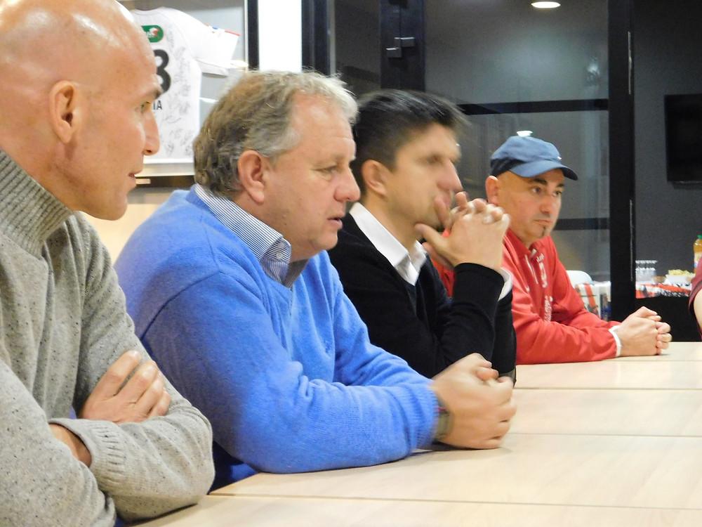 De gauche à droite : Bruno Chapel (LOSC), Jean-Michel Vandamme (LOSC), Reynald Berghe (LOSC) & David (GRS)