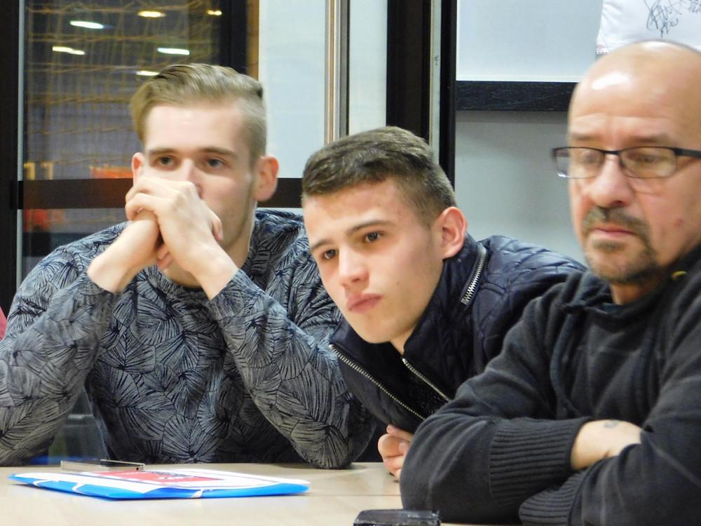 De gauche à droite : Kevin (membre GRS), Maxence (membre GRS) et Daniel