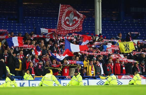 Notre groupe lors du déplacement en Angleterre pour Everton - LOSC.
