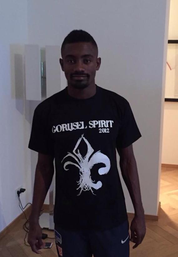 Kalou avec le maillot GORIJSEL SPIRIT