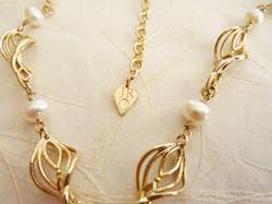 Janet Royle Jewellery gold twist tag