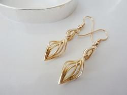 Janet Royle Jewellery gold twist ear