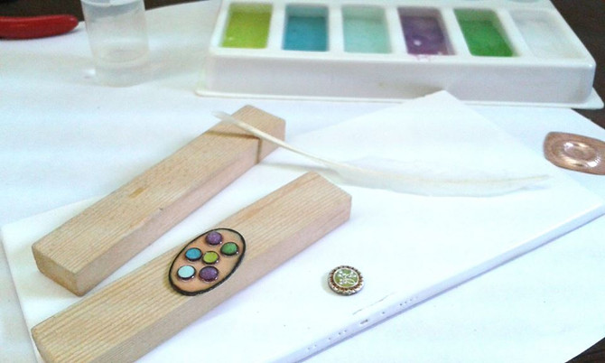 Adding Colour on an Enamelling Course