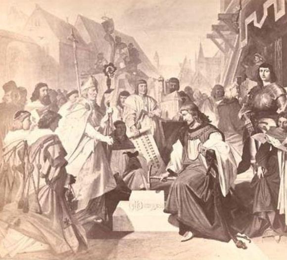 Grundsteinlegung der Frauenkirche