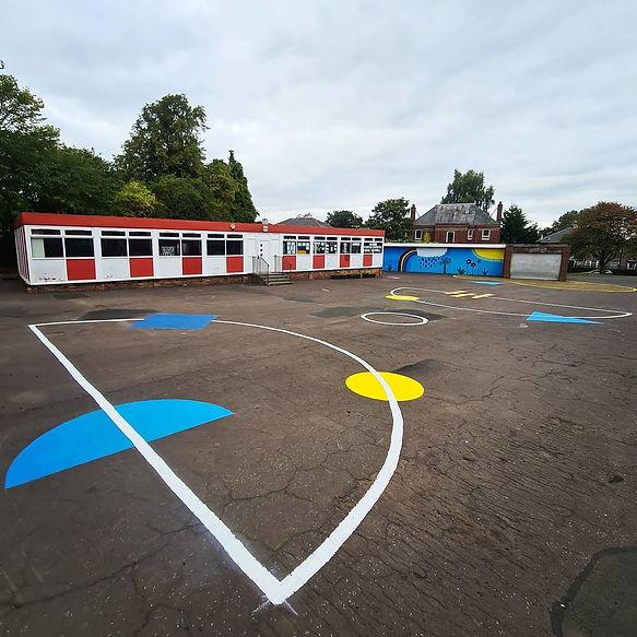 The City of Play-Croftfoot Primary School-Playground Design-Ground Artwork-Engagement-Codesign-Volunteer