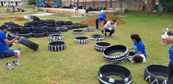 The City of Play-Playground Ideas-Kolar India-Playground Design-Tyres-Upcycle-Recycle