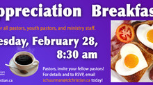 Who can you invite to our Pastors' Appreciation Breakfast?