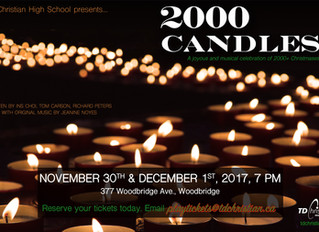 Over 2000 Candles To Be Lit