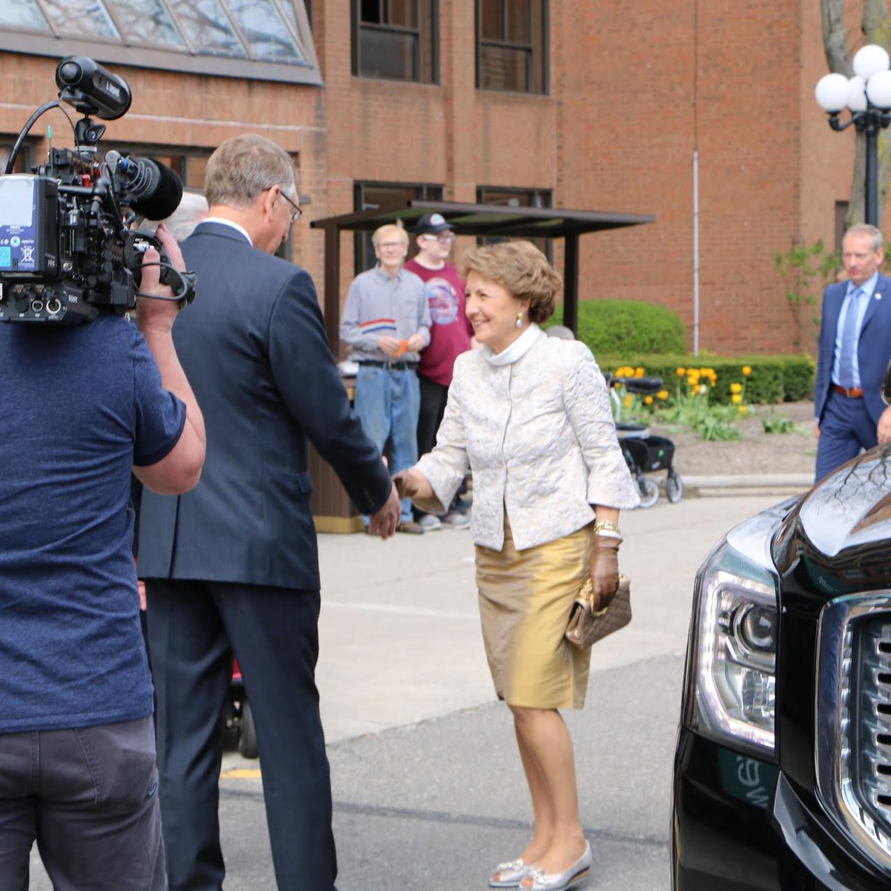 Princess Margriet arrives