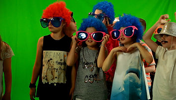 Party Kids at Splash Productions getting ready for some green screen filming