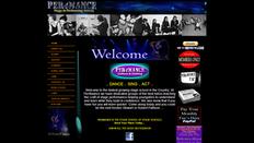 Per4mance Stage School Site   Splash Web Design