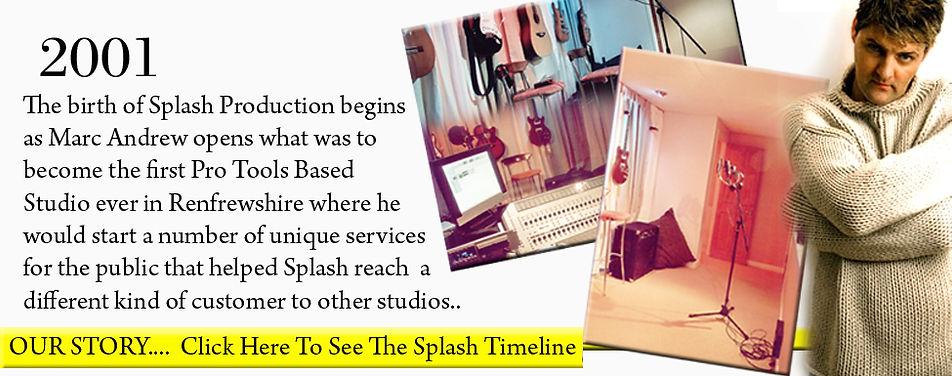 Splash - About Us   Splash Timeline   drum lessons   guitar lessons