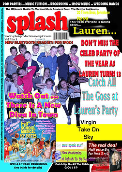 Splash Productions A4 Heat style Magazine Posters at Our Pop Star Parties