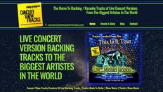 Concert Show Tracks Website   Splash Web Design