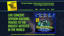 Concert Show Tracks Website | Splash Web Design