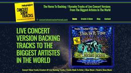 Concert Show Tracks Website | Splash Web Design