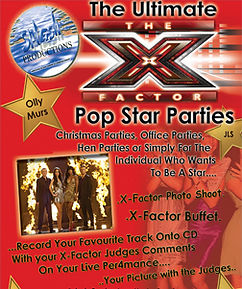 X Factor theme kids parties renfrewshire at Splash Production