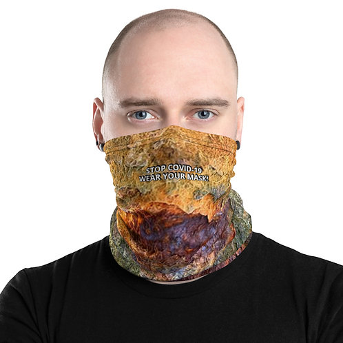 STOP COVID-19 - RUST Neck Gaiter Mask