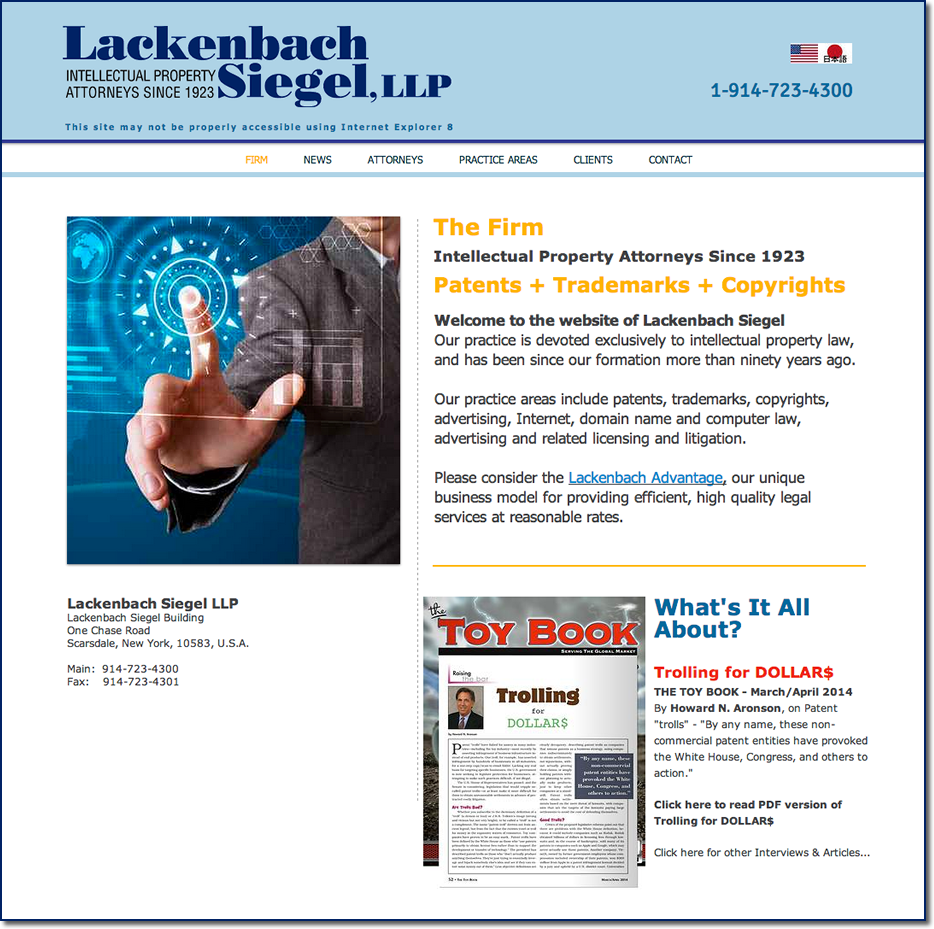 Lackenbach Siegel Patents Trademarks