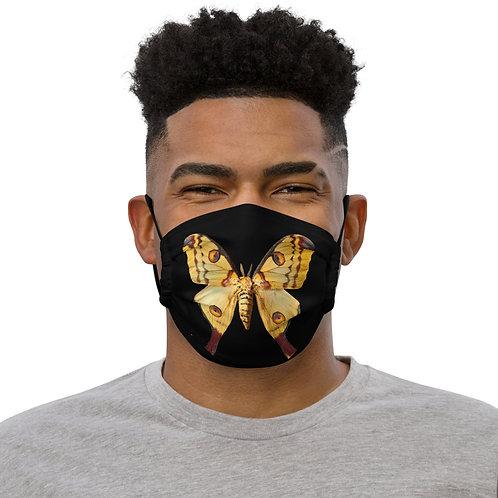 MOTH on BLACK Face Mask