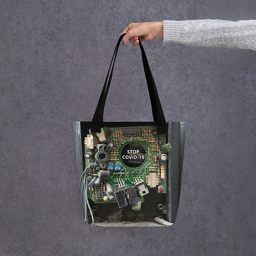 STOP COVID-19 - INTERCONNECTED Tote bag