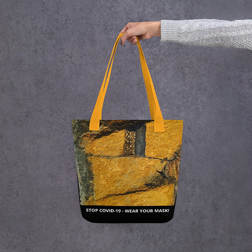 STOP COVID-19 - BE HAPPY Tote Bag