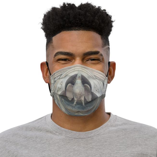 Gray Eagle Face Mask