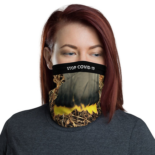 STOP COVID-19 - FEATHERED Gaiter Mask