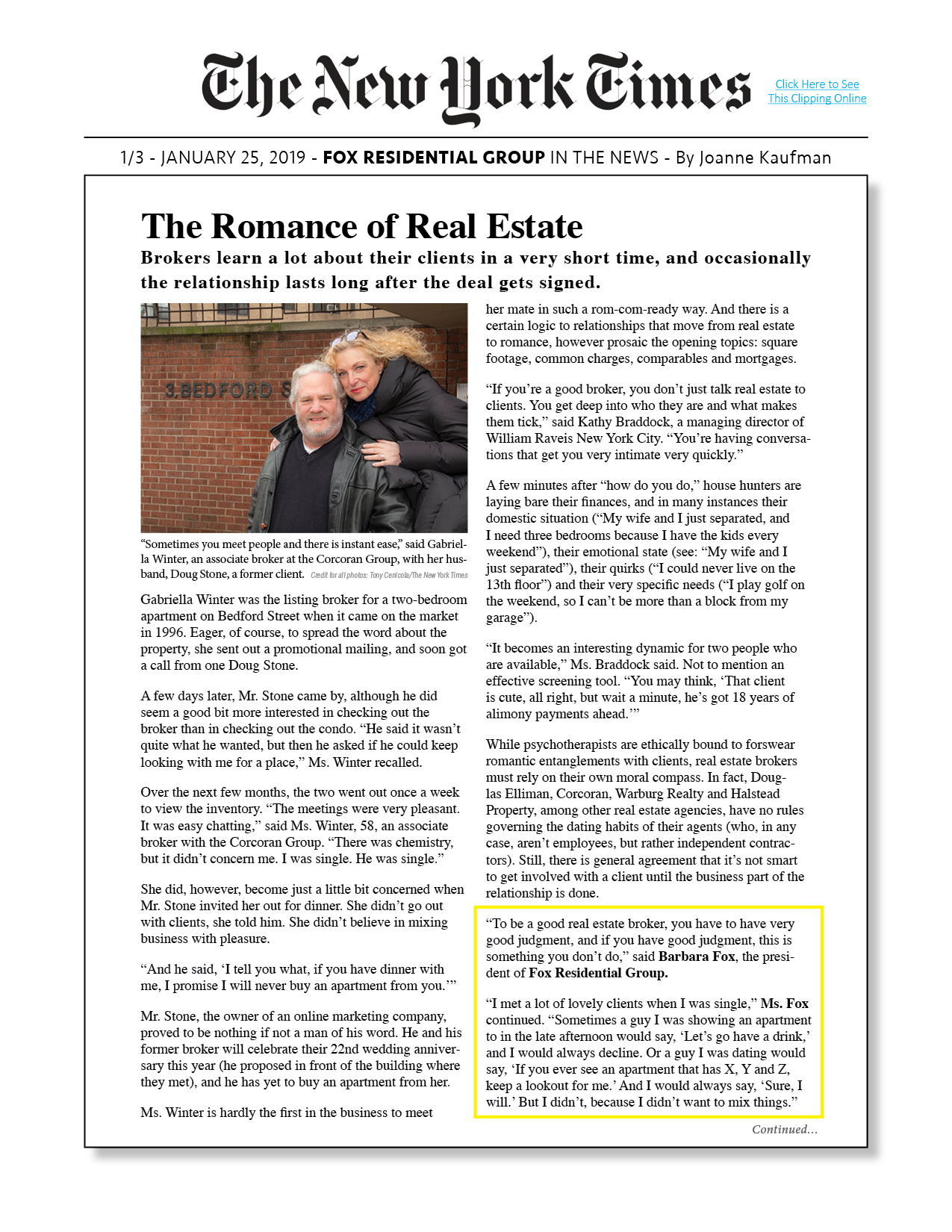 012519-NYT-OL-FOX-The Romance of Real Es